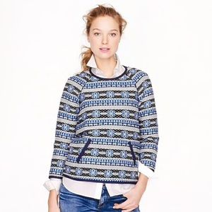 J. Crew Collection Popover Sweatshirt, Size 4